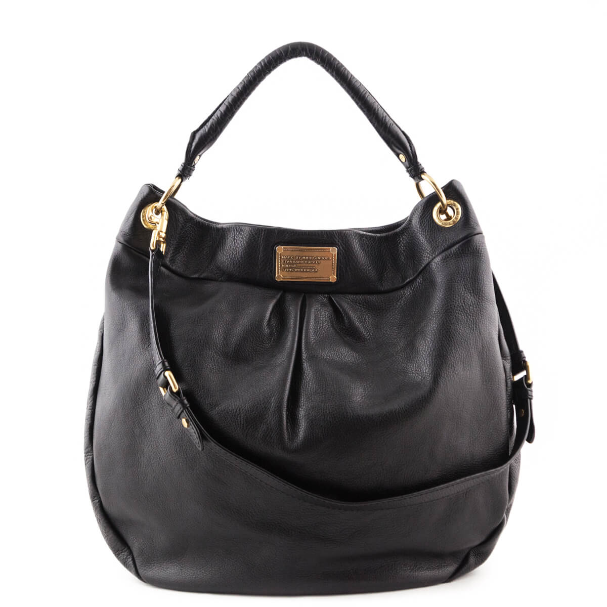 22883e1368f Marc by Marc Jacobs Black Classic Q Hillier Hobo - LOVE that BAG - Preowned  Authentic ...