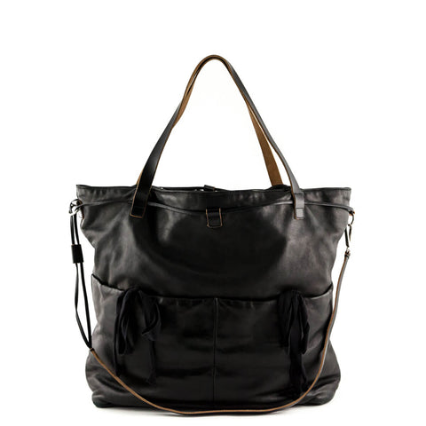 Marni Black Lambskin Shopping Bag