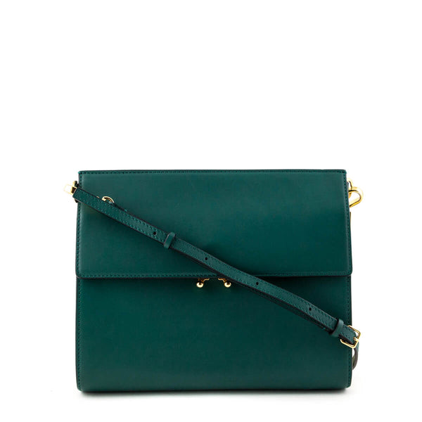 e5e75f66ded6 Marni Green Calfskin Crossbody Bag - LOVE that BAG - Preowned Authentic  Designer Handbags
