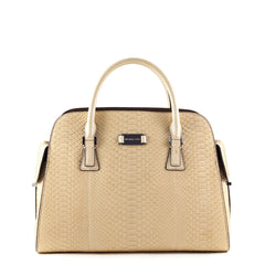 Michael Kors Collection Beige Snake Embossed Gia Tote - 1