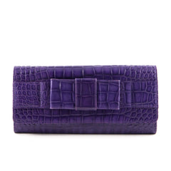 Michael Kors Collection Crocodile Embossed Clutch - 1