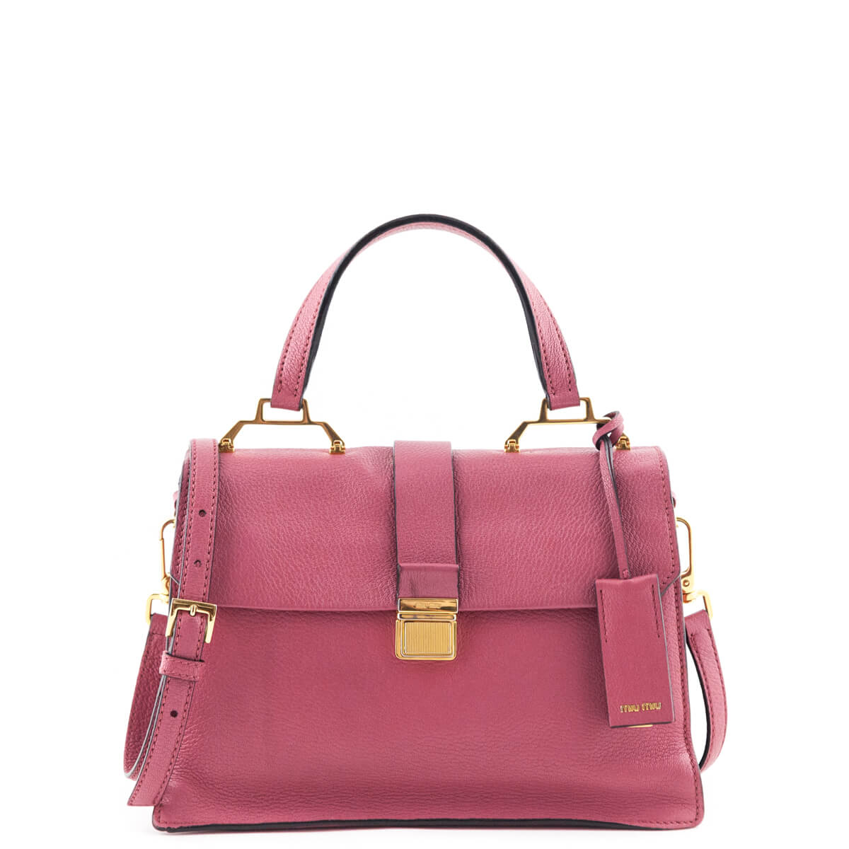 Miu Miu Bruyere Textured Madras Top Handle - LOVE that BAG - Preowned  Authentic Designer Handbags ... 16c782f1bc4cd