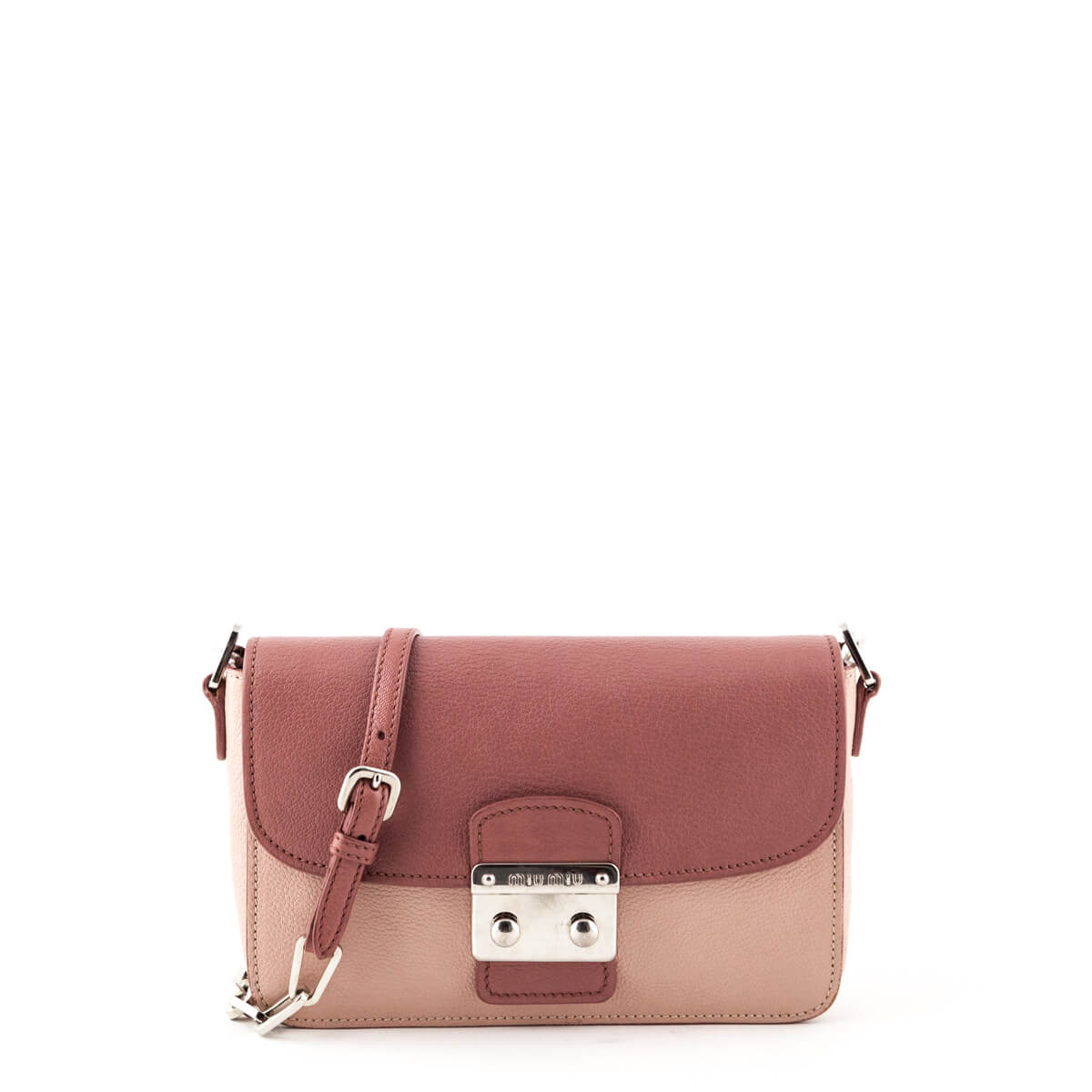 Miu Miu Pink Two-Tone Madras Shoulder Bag - LOVE that BAG - Preowned  Authentic ... 4ac58160b71b3
