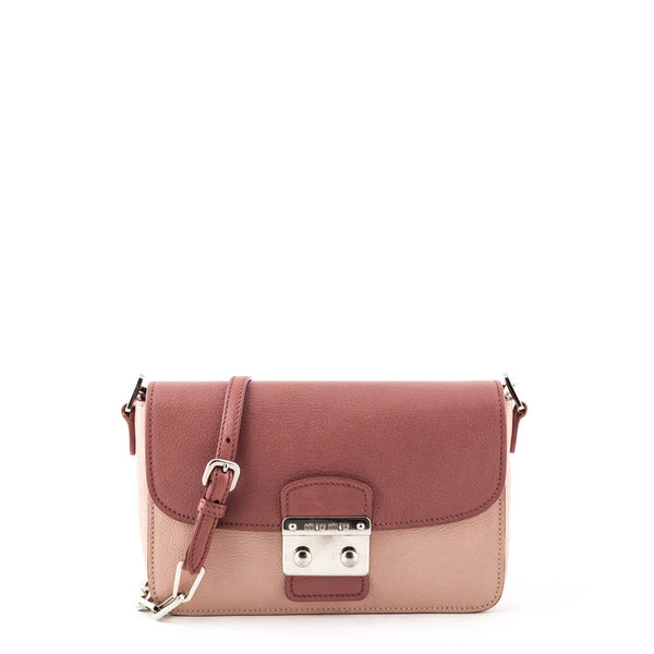 Miu Miu Pink Two-Tone Madras Shoulder Bag - LOVE that BAG - Preowned  Authentic 83c2207305d46