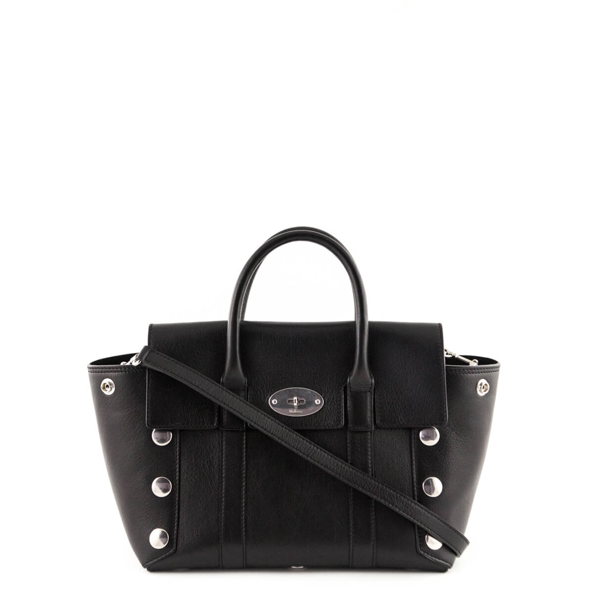 1d7ba56f242 Mulberry Black Calfskin Small Studded New Bayswater Tote - LOVE that BAG -  Preowned Authentic Designer ...