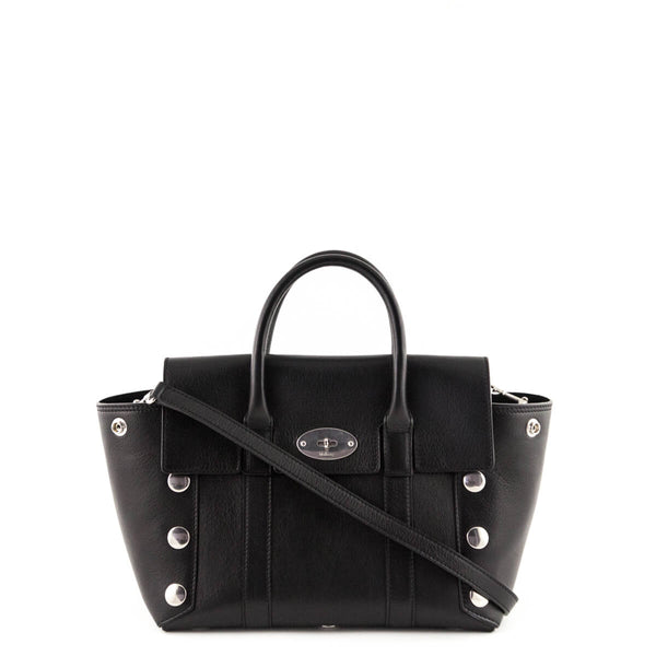 94d4330cbf3f Mulberry Black Calfskin Small Studded New Bayswater Tote - LOVE that BAG - Preowned  Authentic Designer