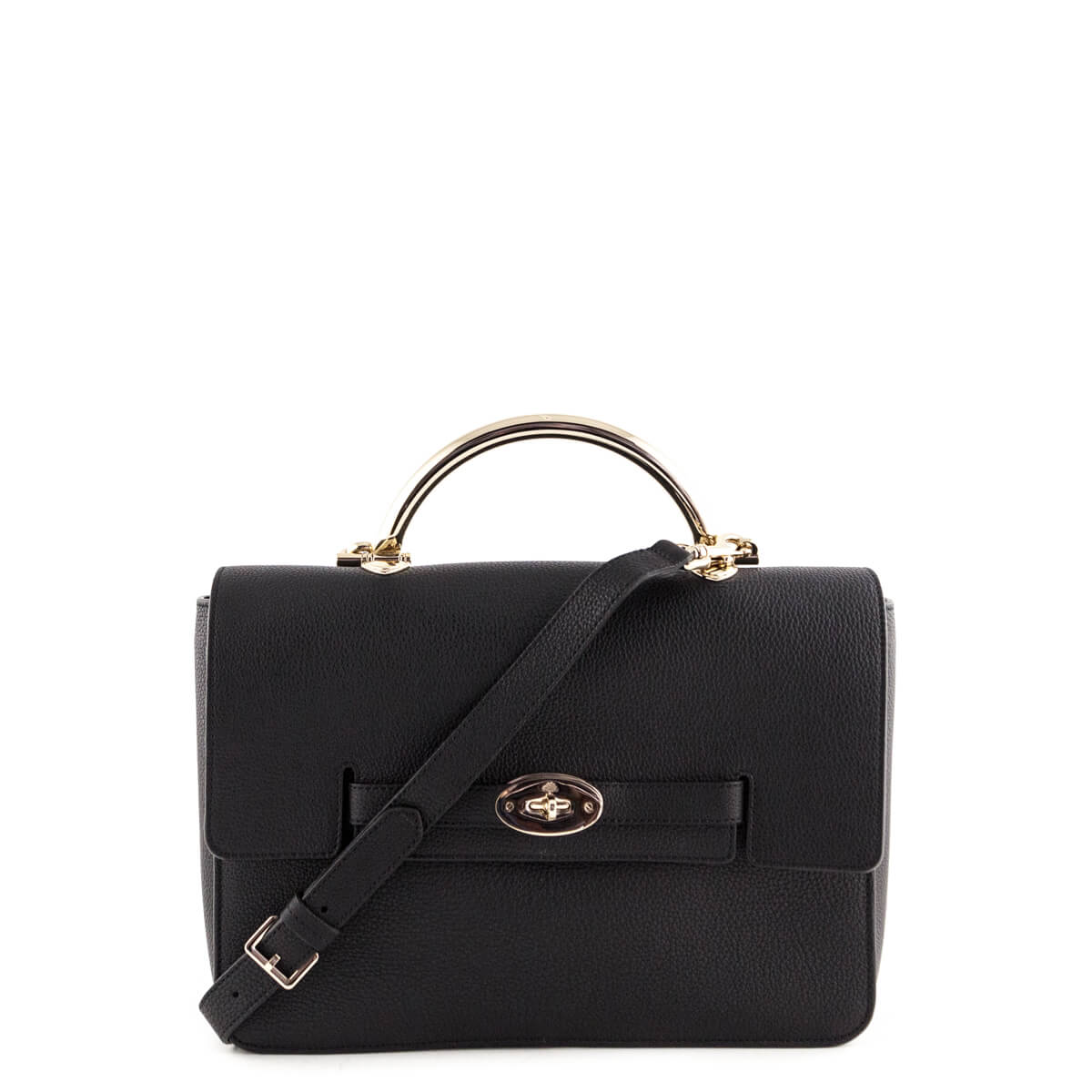7d74786405c9 Mulberry Black Grainy Calfskin Large Bayswater - LOVE that BAG - Preowned  Authentic Designer Handbags ...