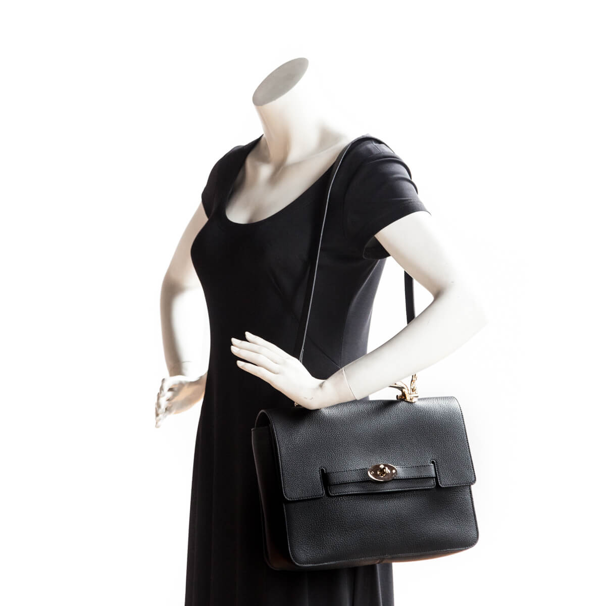 433fae581942 ... Mulberry Black Grainy Calfskin Large Bayswater - LOVE that BAG - Preowned  Authentic Designer Handbags