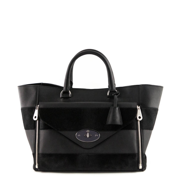 e07bb0f971 Mulberry Black Haircalf Stripe Willow Tote - Luxury Consignment Bags