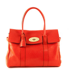 Mulberry Flame Shiny Grain Bayswater Satchel - 1