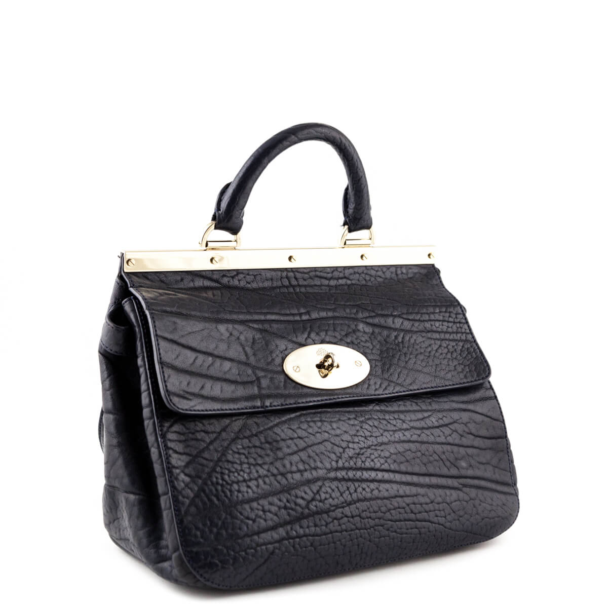 aae615c98d66 ... Mulberry Navy Calfskin Small Suffolk Satchel Bag - LOVE that BAG -  Preowned Authentic Designer Handbags ...
