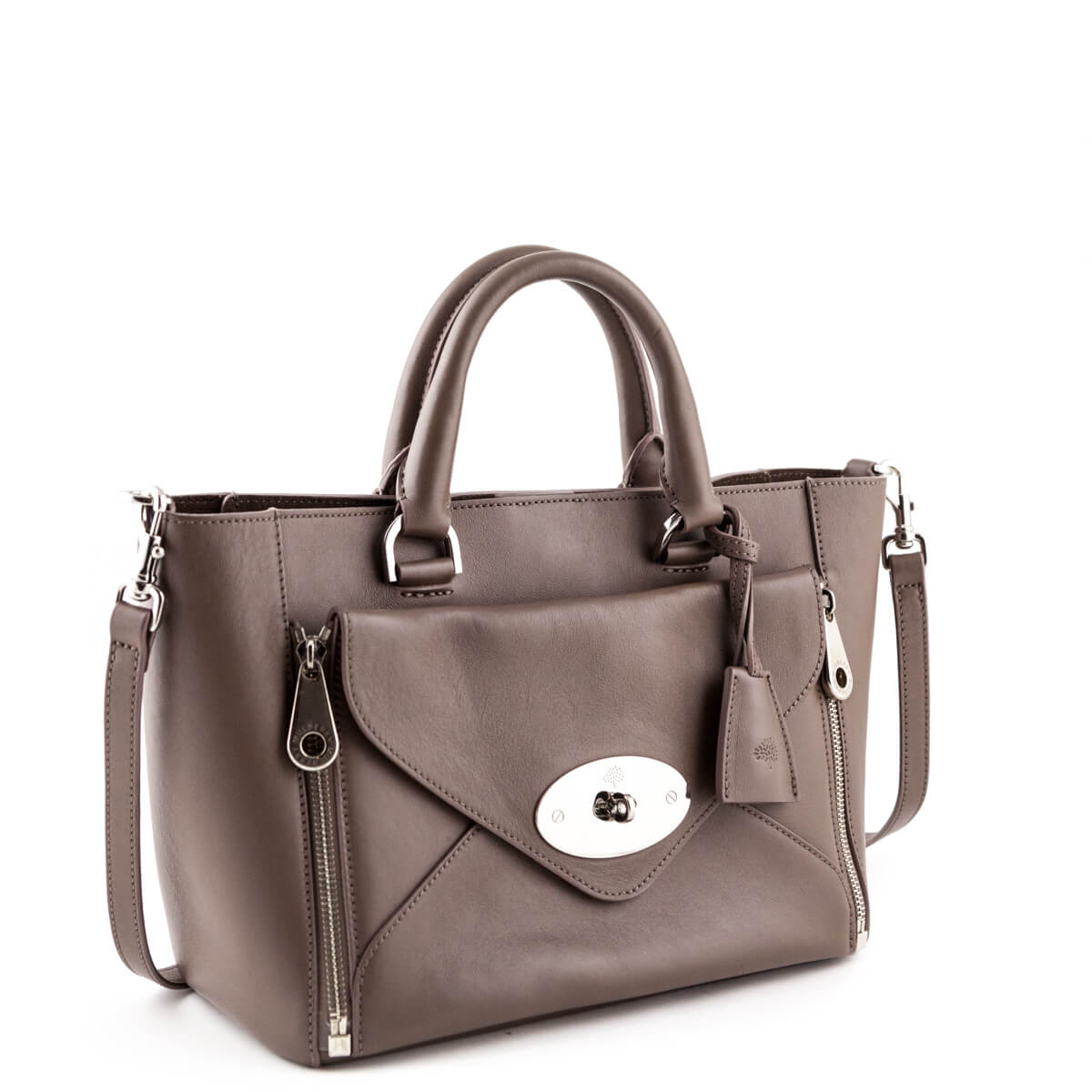 168924e22b0 ... Mulberry Taupe Calfskin Small Willow Bag - LOVE that BAG - Preowned  Authentic Designer Handbags ...