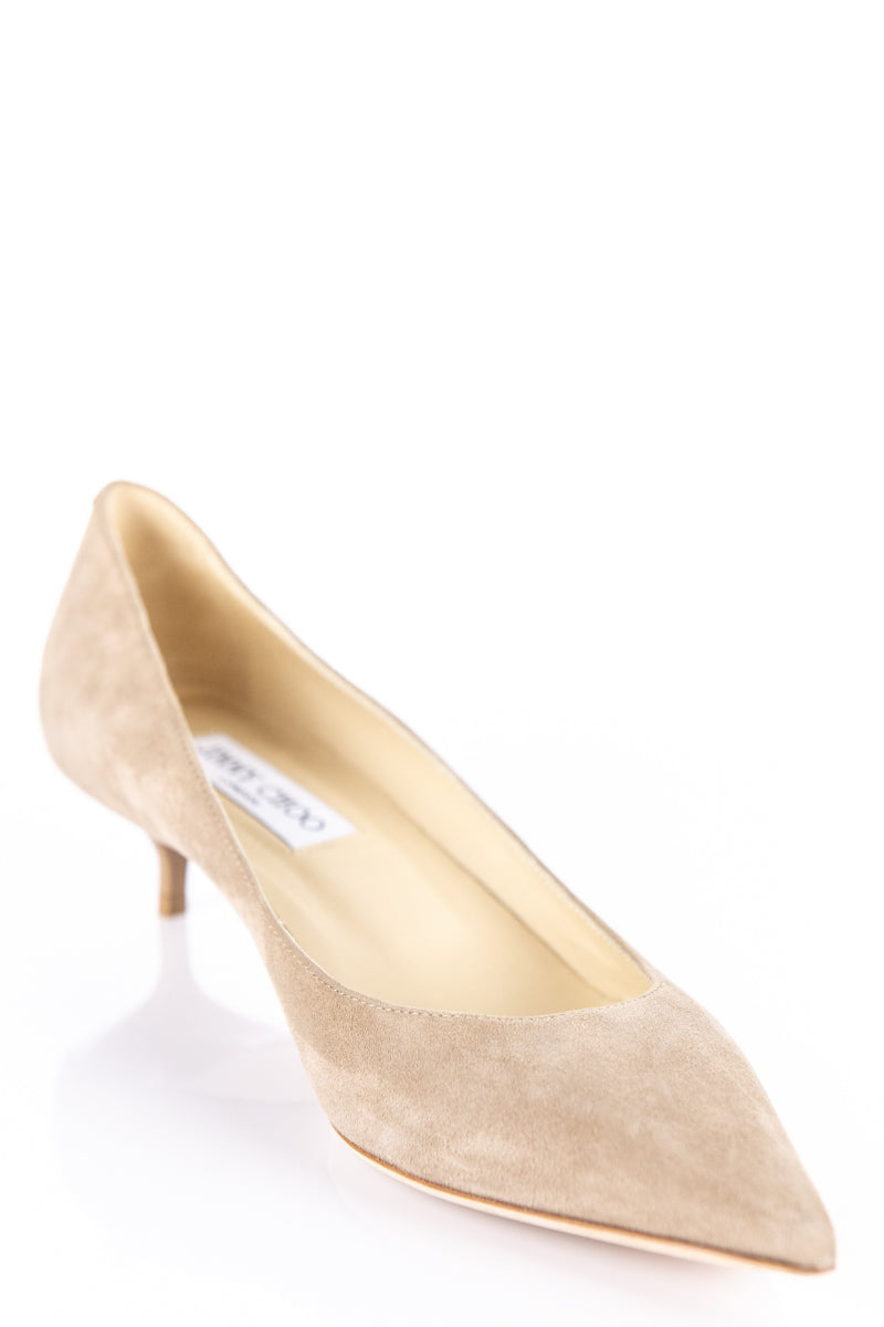 best sell reliable quality coupon code Jimmy Choo Beige Suede Kitten Heel Pumps - Jimmy Choo Shoes Canada