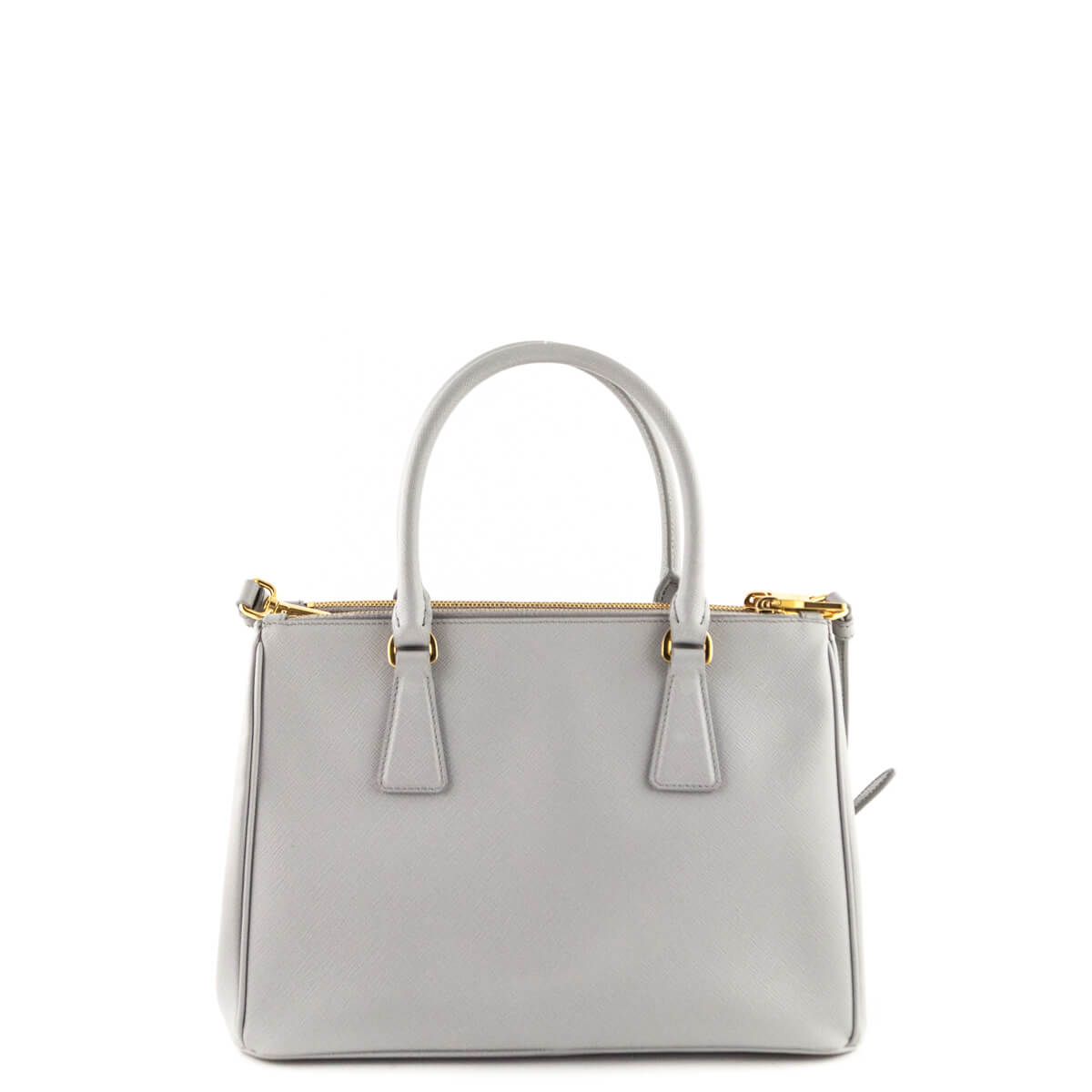 47ccead5ca2c ... france prada astral gray saffiano small galleria double zip lux tote  love that bag preowned 5cd3f