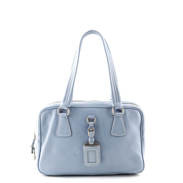 Prada Baby Blue Cervo Small Bowler Bag - LOVE that BAG - Preowned Authentic  Designer Handbags 311df0bdbe9e4