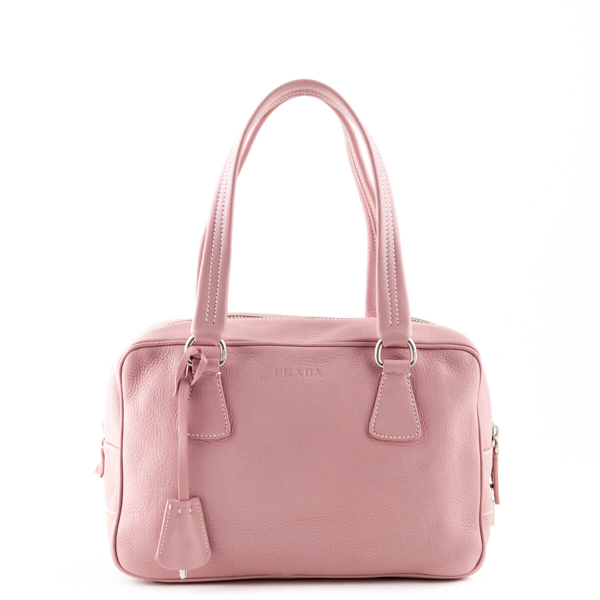 a270644b552b Prada Baby Pink Cervo Small Bowler Bag - LOVE that BAG - Preowned Authentic  Designer Handbags ...