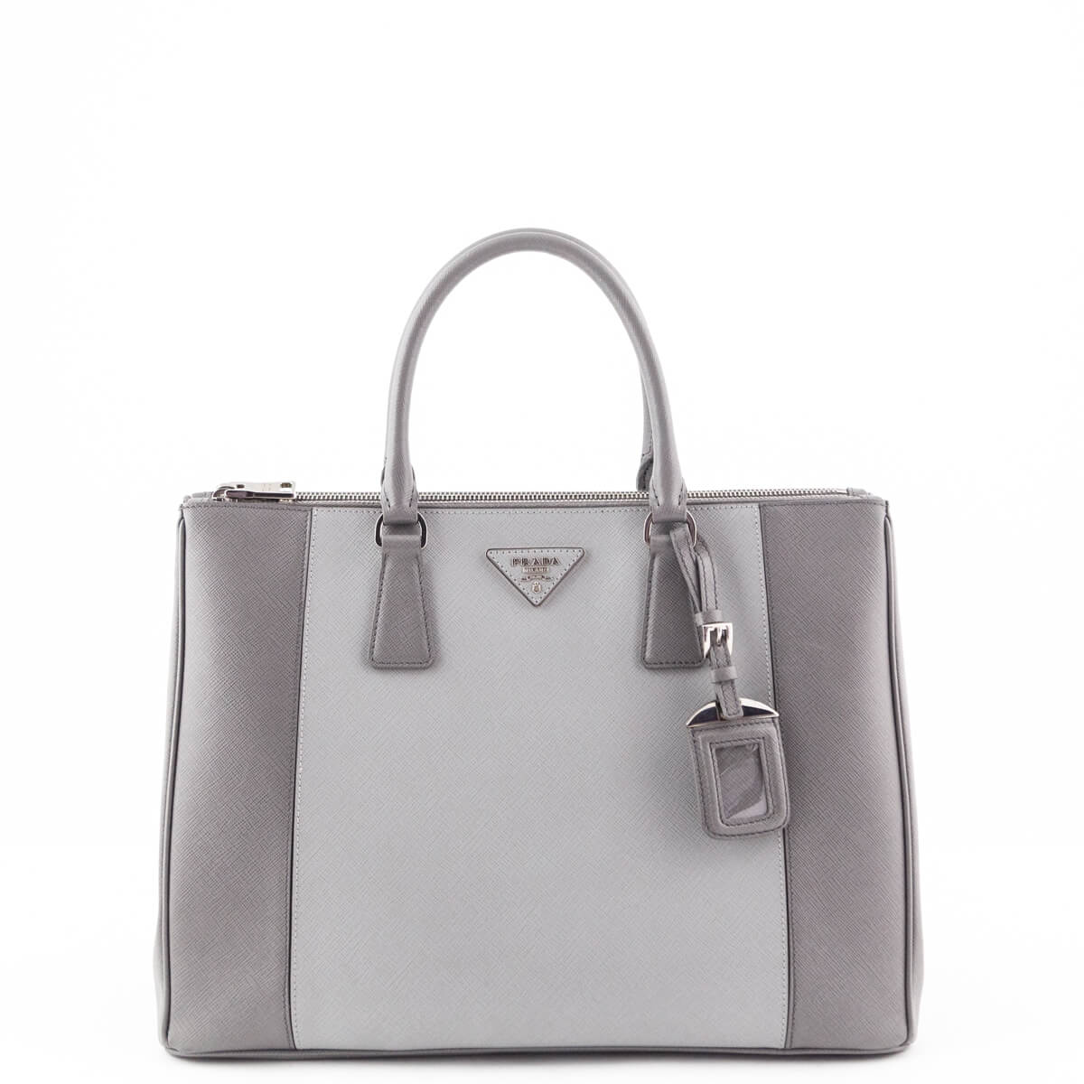 54f63a42803d Prada Marmo & Nube Saffiano Luxe Double Zip Tote - LOVE that BAG - Preowned  Authentic ...