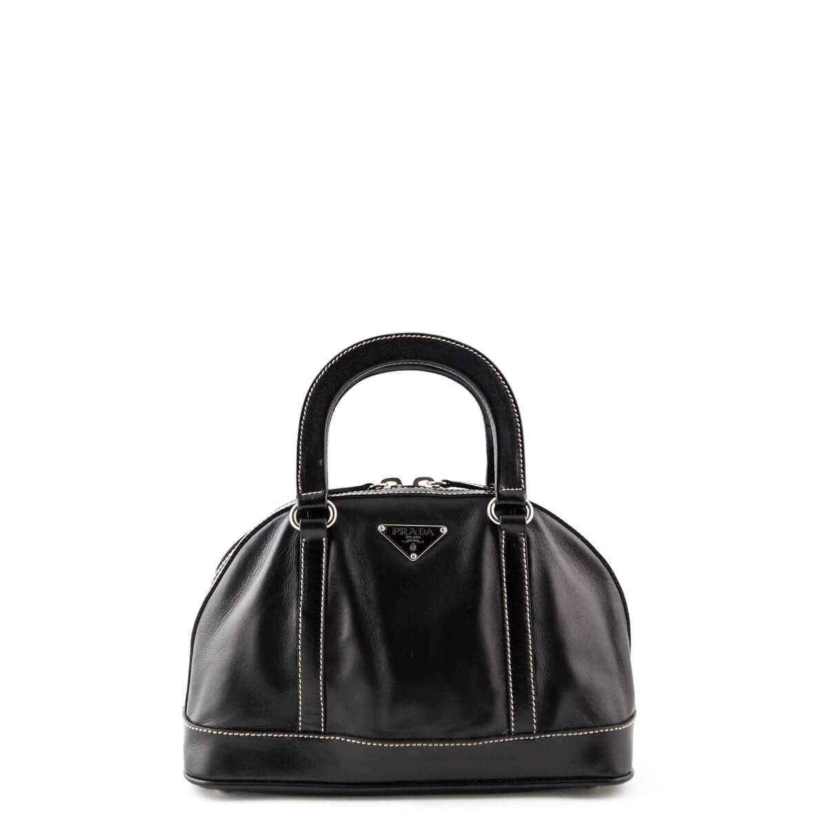 8e4f4b3006 ... sale prada black leather mini dome top handle bag love that bag  preowned authentic designer a8f2e