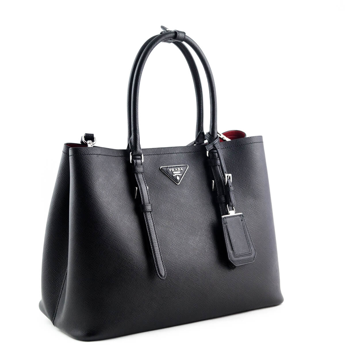 0ce91cd9659c ... Prada Black Saffiano Double Bag - LOVE that BAG - Preowned Authentic  Designer Handbags ...