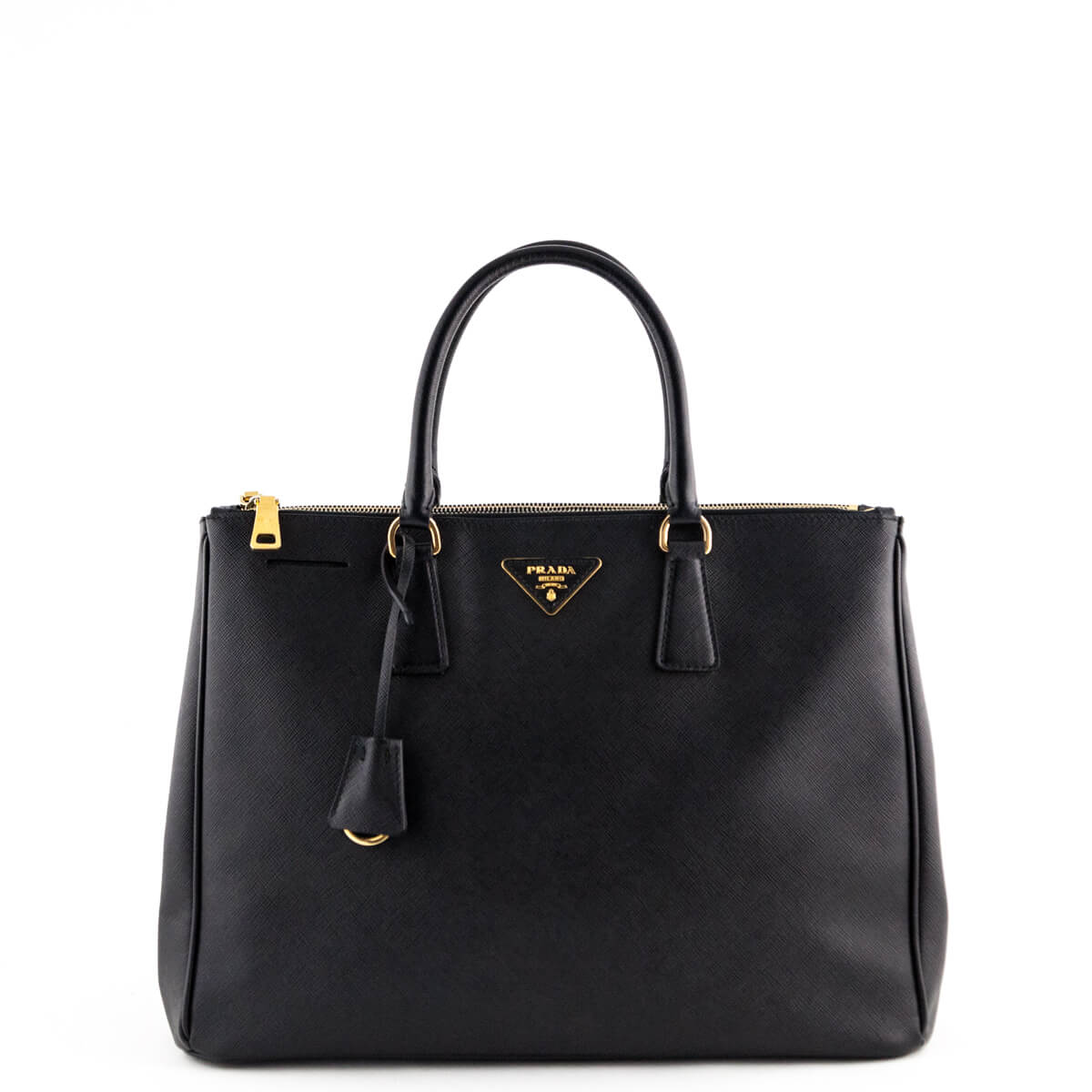 bb23410ae85a ... womens fashion bags 35a83 8615d best price prada black saffiano large  galleria double zip tote love that bag preowned authentic designer ...