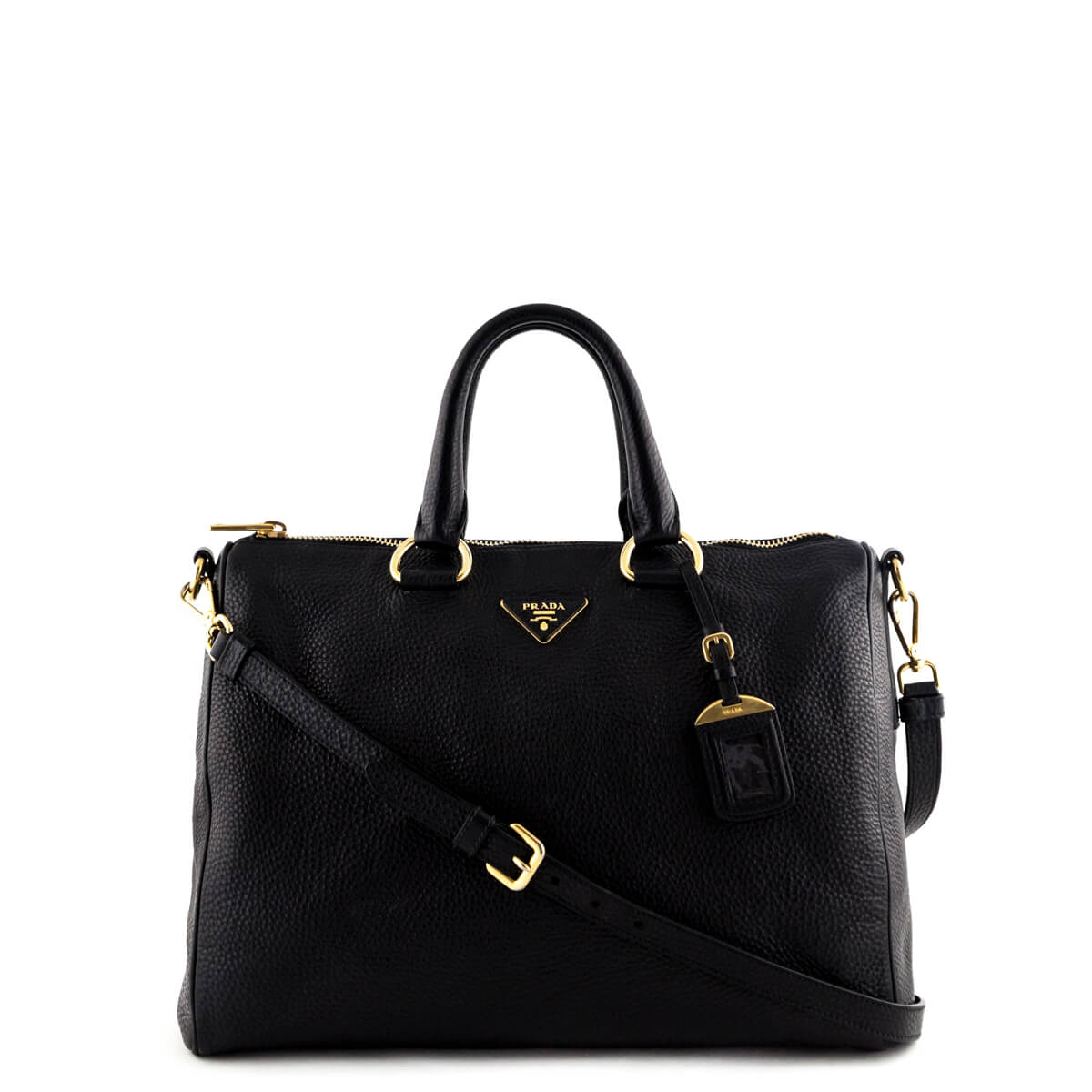 b1b9c26e60eab2 ... low price prada black vitello daino tote love that bag preowned  authentic designer handbags 8060d 65e38 ...