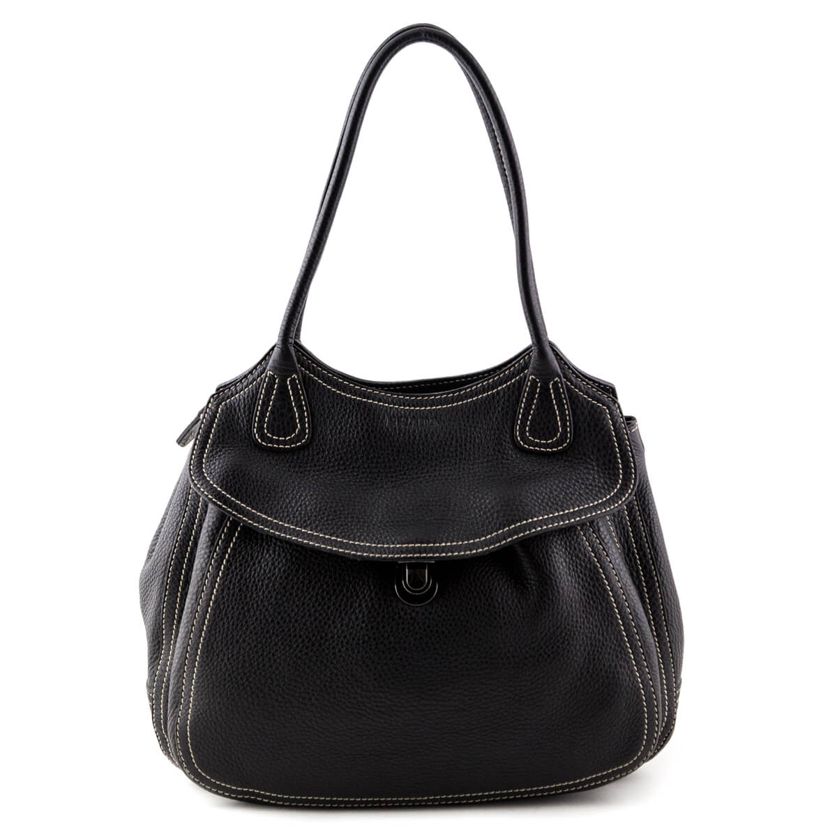 cd76d57bf11891 Prada Black Vitello Daino Pocket Hobo Shoulder Bag - LOVE that BAG -  Preowned Authentic Designer ...