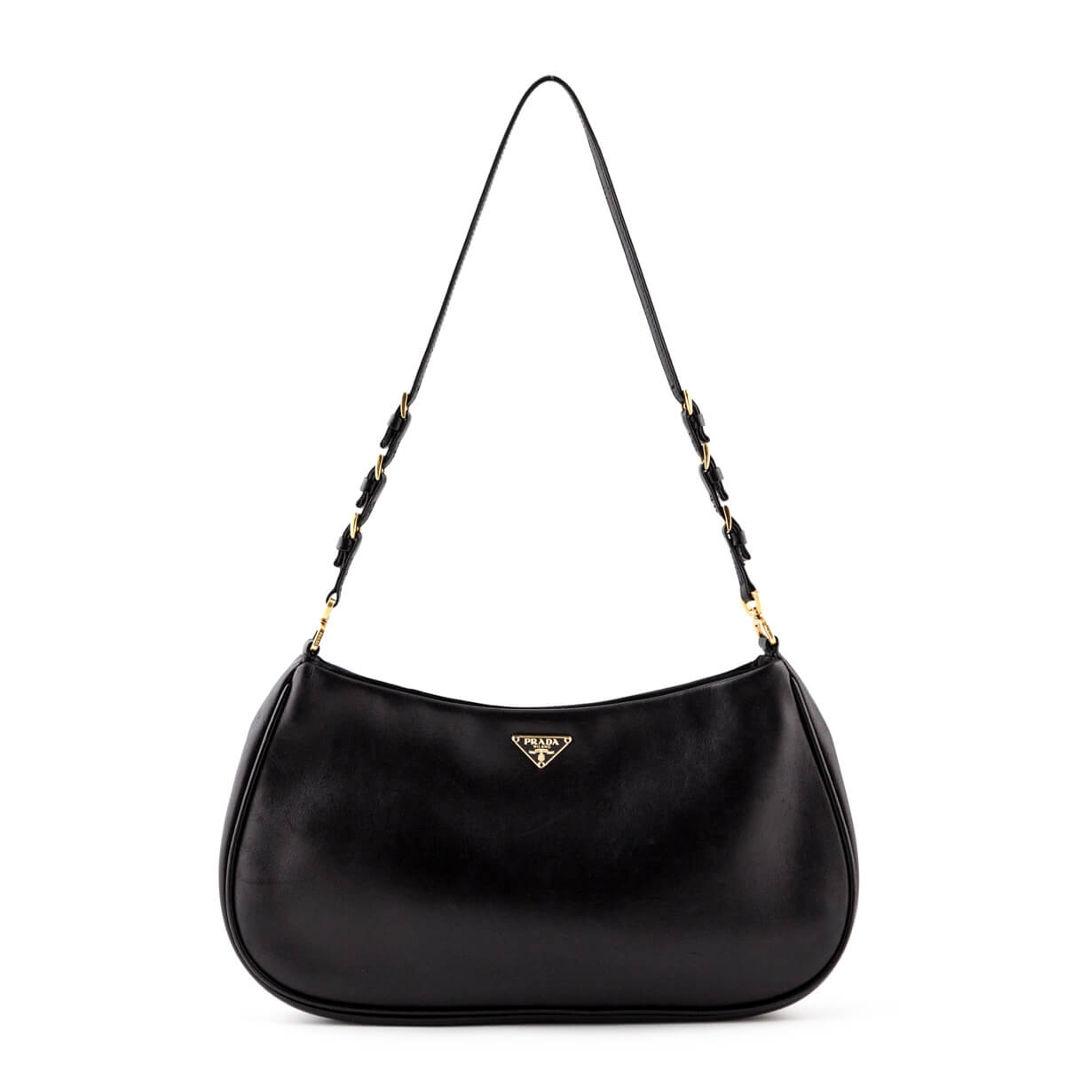 70d31ab76509 Prada Black Vitello Daino Small Shoulder bag - LOVE that BAG - Preowned Authentic  Designer Handbags ...