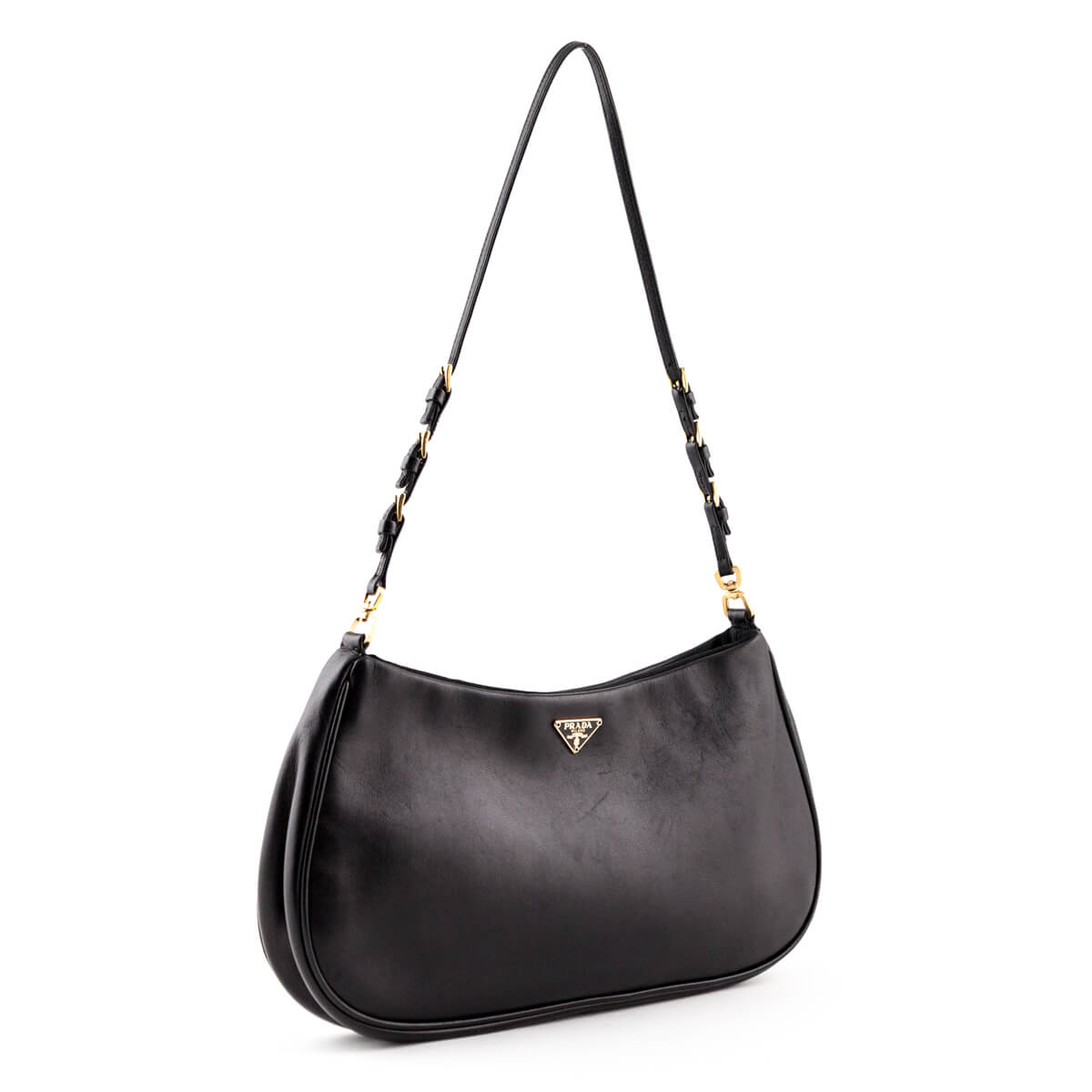 deecac2335cd ... Prada Black Vitello Daino Small Shoulder bag - LOVE that BAG - Preowned Authentic  Designer Handbags ...