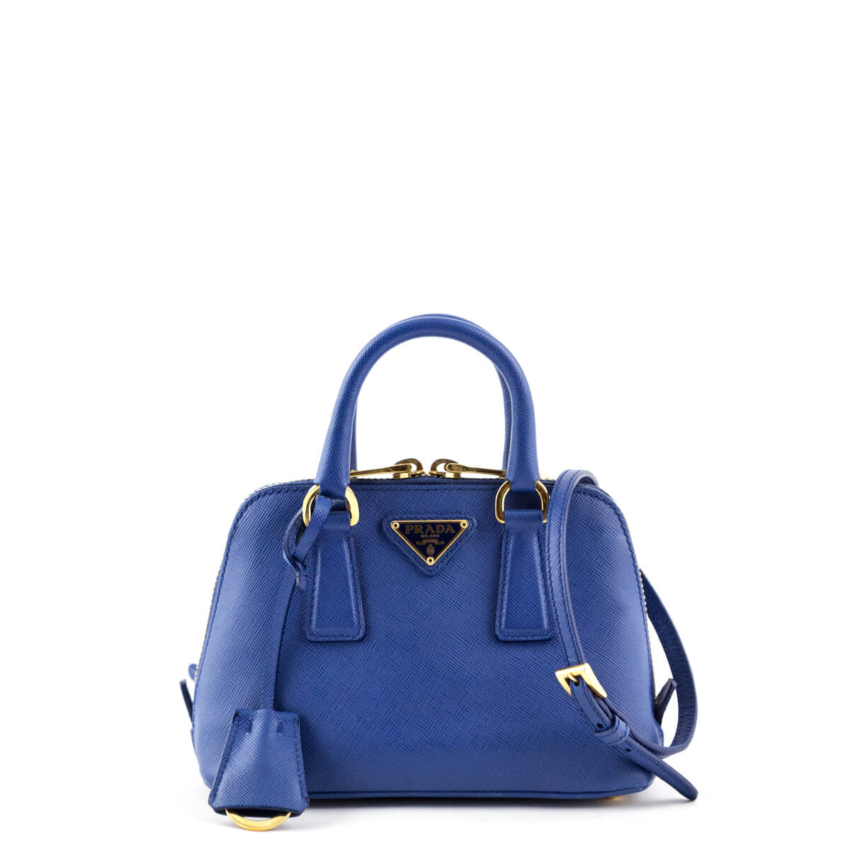0d354eb4c9f0 Prada Blue Saffiano Lux Mini Promenade Bag - LOVE that BAG - Preowned  Authentic Designer Handbags ...
