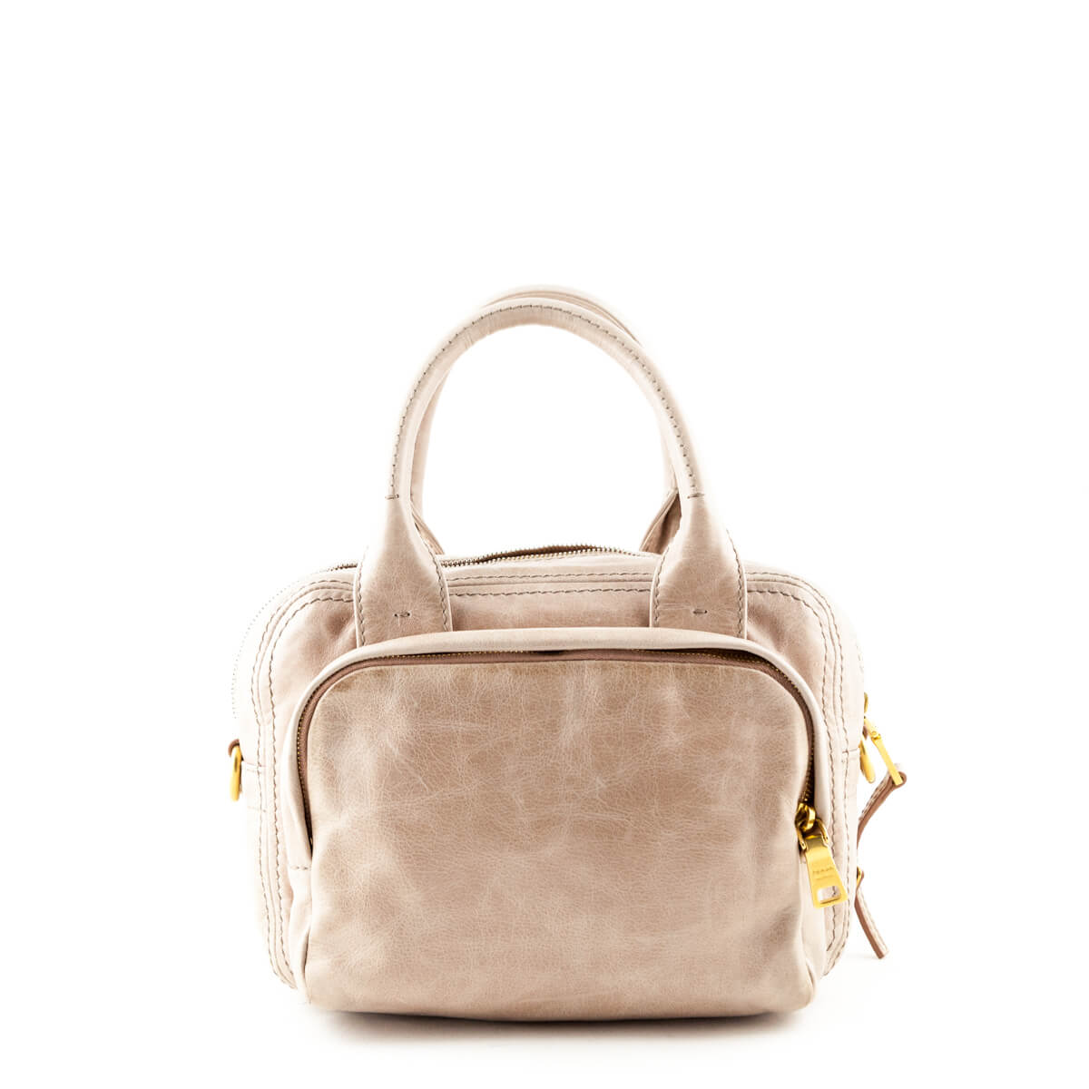 eb51c2304f ... Prada Blush Vitello Shine Satchel Bag - LOVE that BAG - Preowned  Authentic Designer Handbags ...
