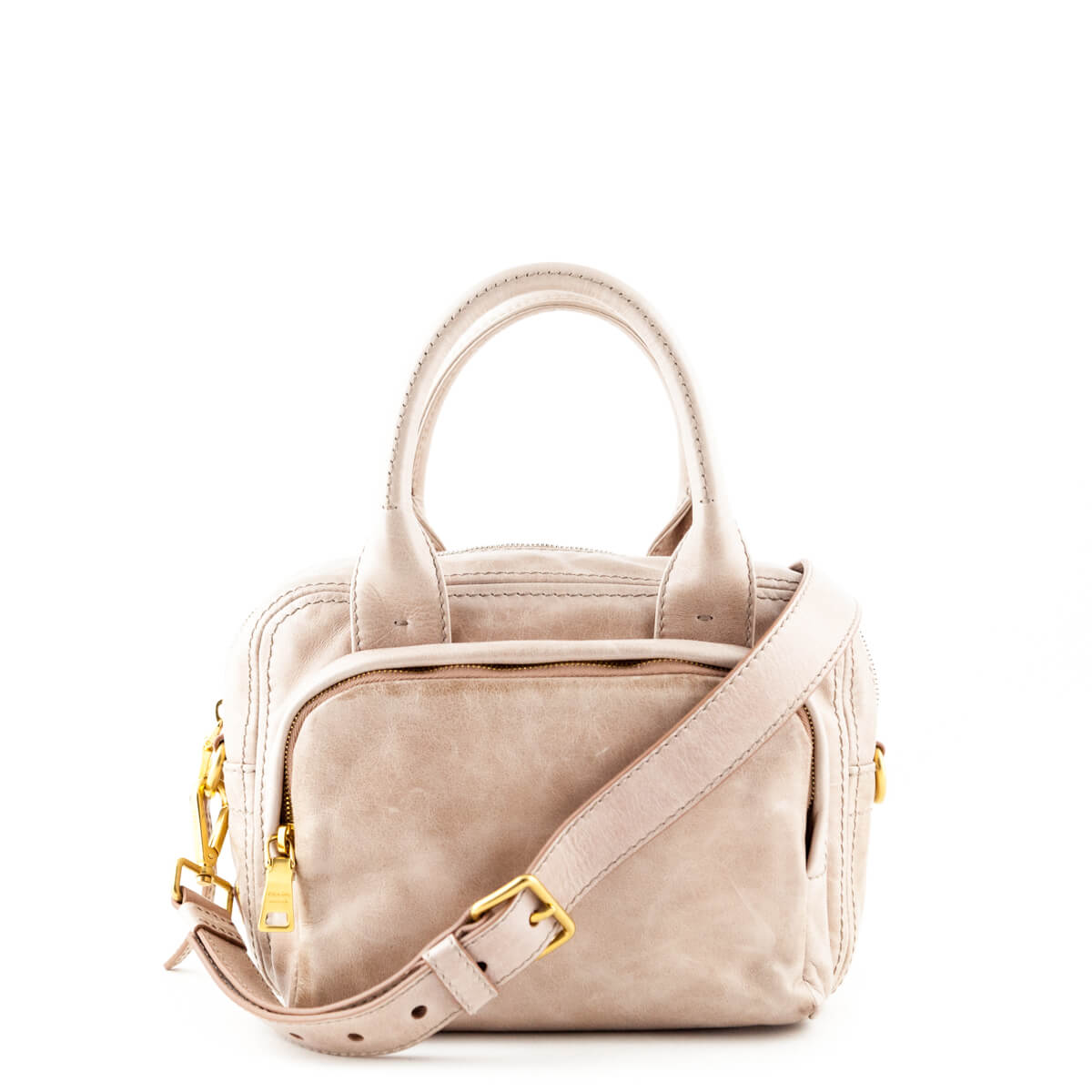 4969bcd8db Prada Blush Vitello Shine Satchel Bag - LOVE that BAG - Preowned Authentic Designer  Handbags ...