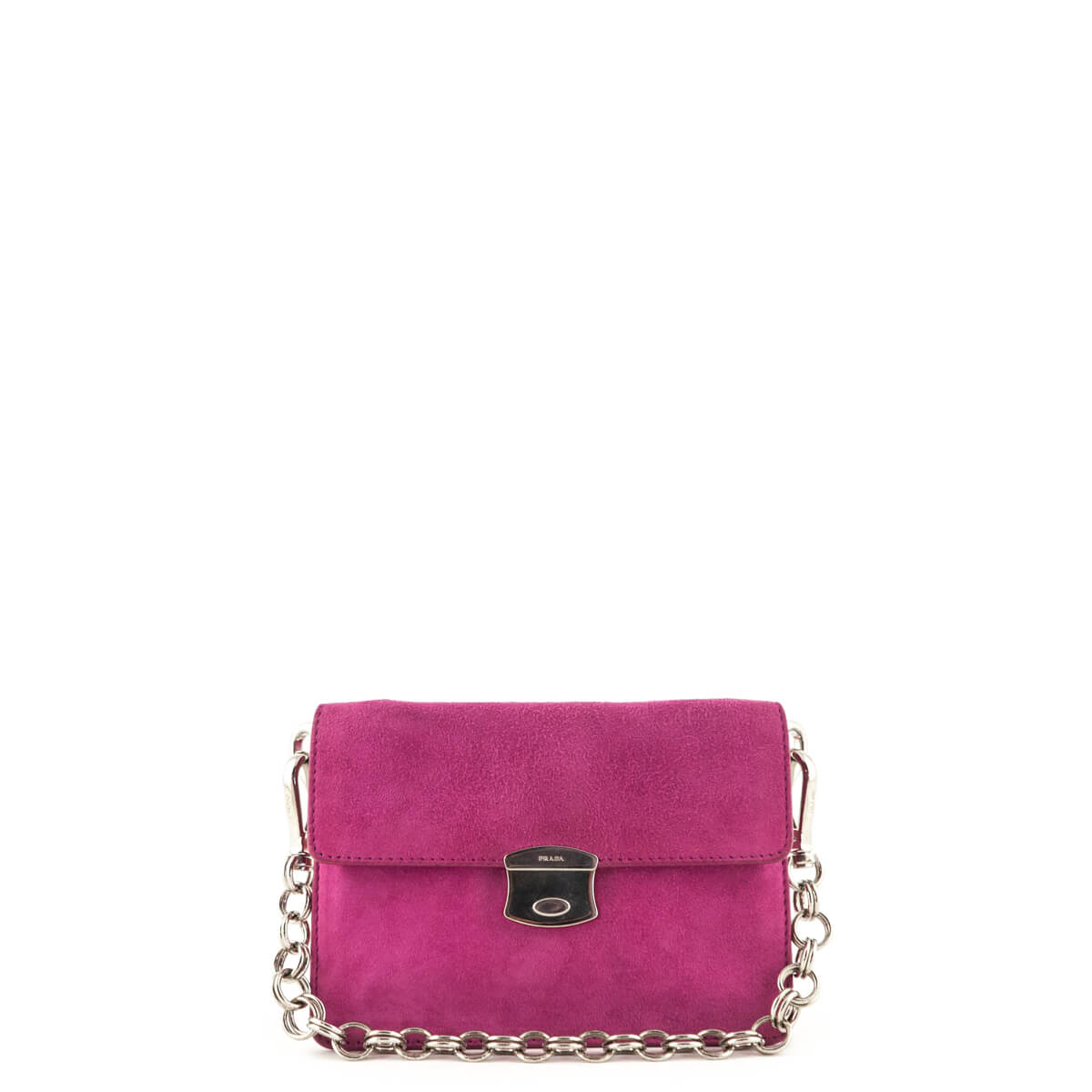 6ef201d805 Prada Fuchsia Suede Mini Handbag - LOVE that BAG - Preowned Authentic  Designer Handbags ...