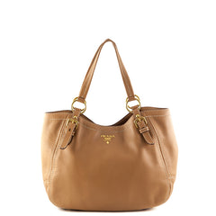 Prada Naturale Vitello Daino Shoulder Bag - 1