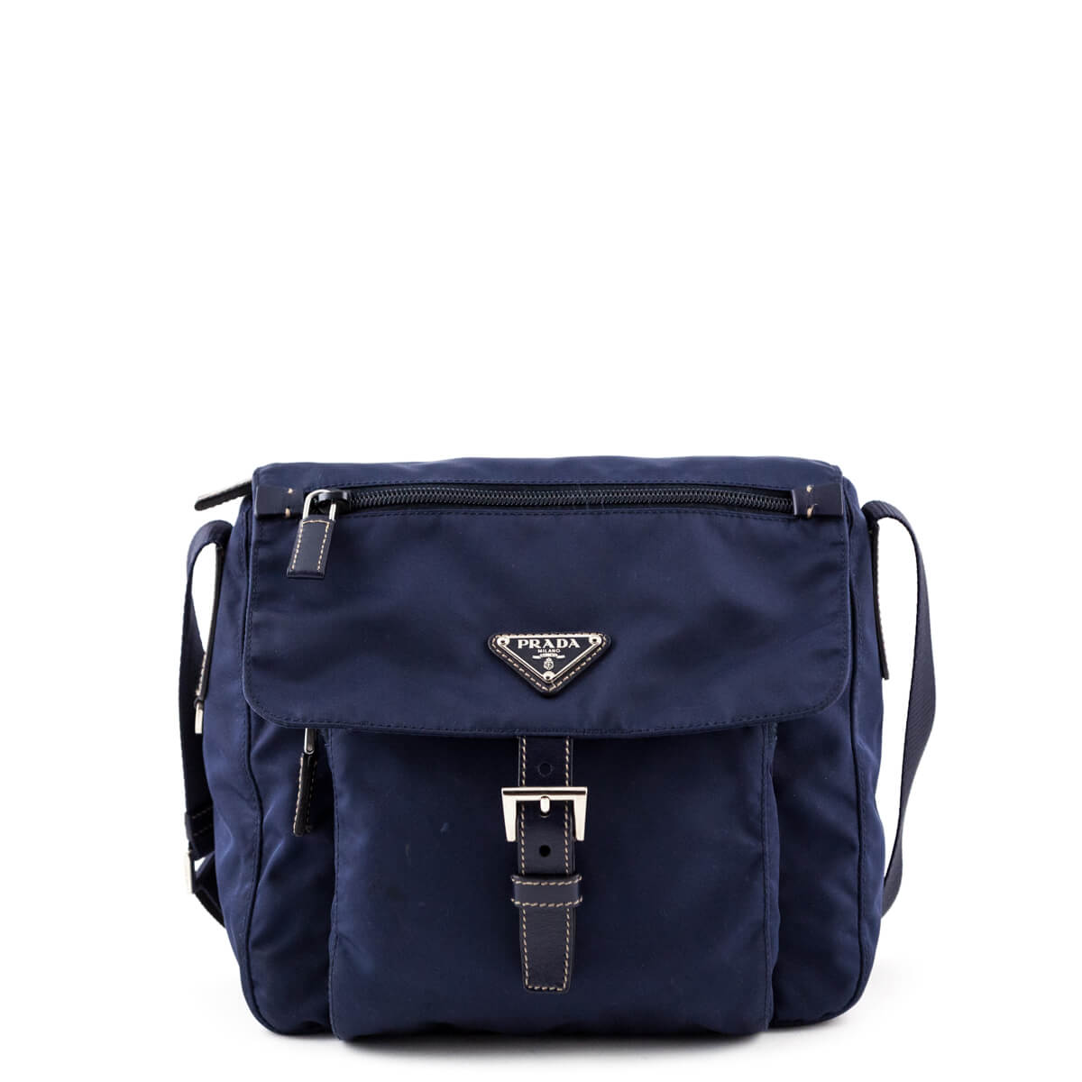 53e354d2cce4 Prada Navy Nylon Small Crossbody Bag - LOVE that BAG - Preowned Authentic  Designer Handbags ...