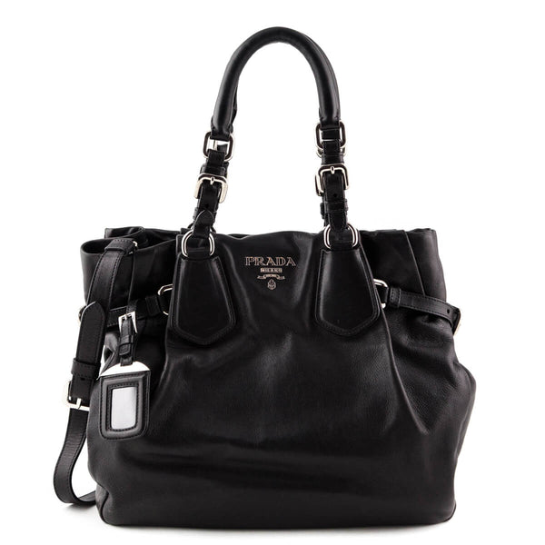 9f5faf156b5c Prada Nero Side Buckle Satchel - LOVE that BAG - Preowned Authentic  Designer Handbags