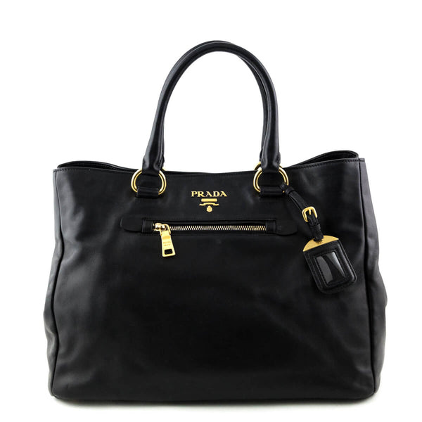 2dce4161dd5c Prada Nero Vitello Top Handle Tote - LOVE that BAG - Preowned Authentic  Designer Handbags