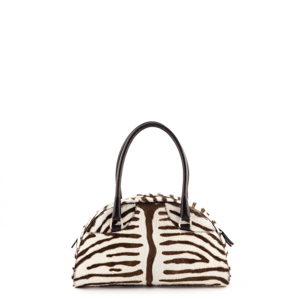 55aa4d9b9329 ... czech prada printed brown zebra animal patch top handle bag love that  bag preowned authentic d090e