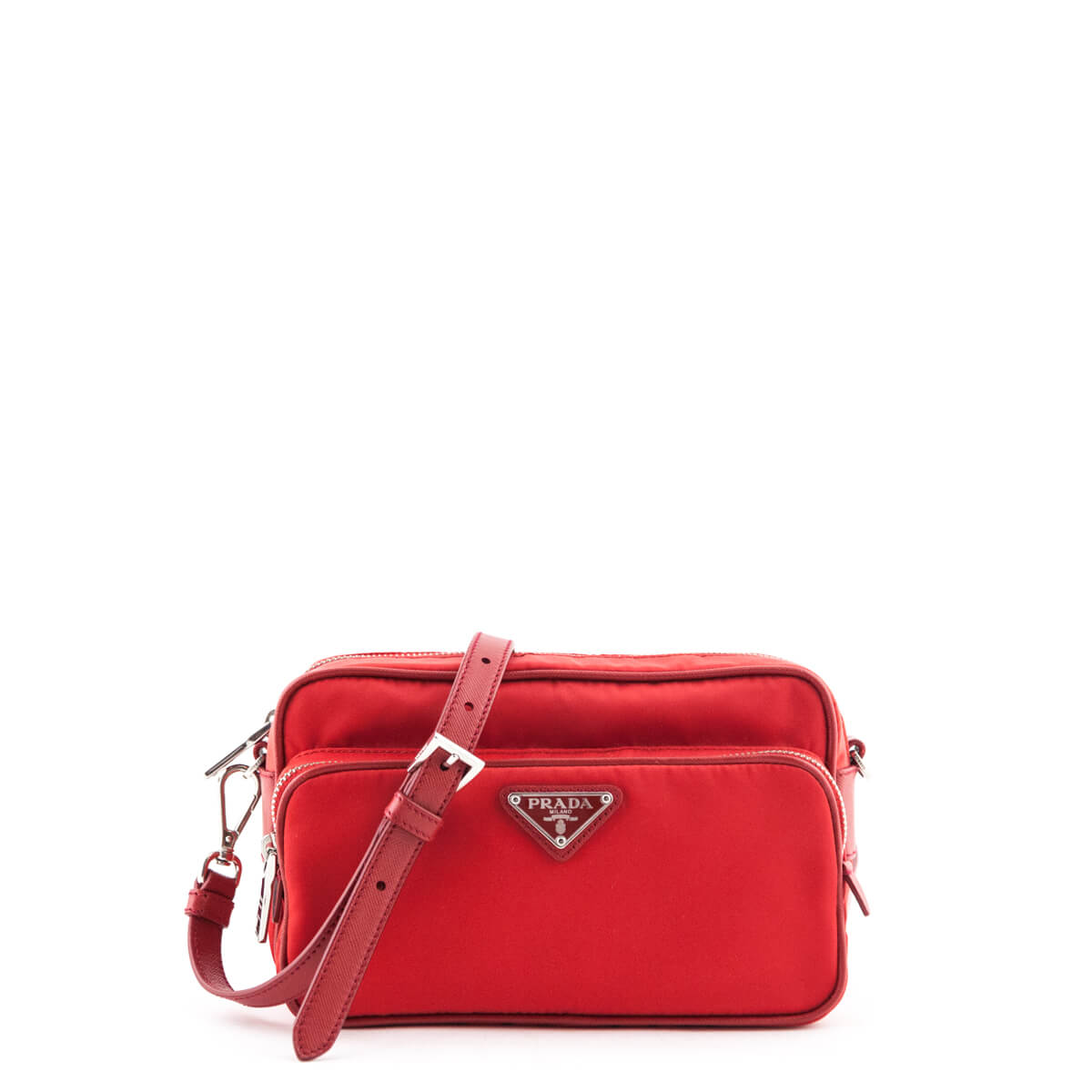 e98128e9b345d1 Prada Red Tessuto Nylon Crossbody Camera bag - LOVE that BAG - Preowned  Authentic Designer Handbags ...