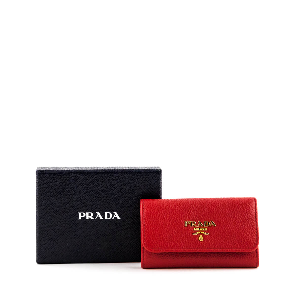 49288b58f254 ... wholesale prada red vitello grain key holder love that bag preowned  authentic designer handbags 99ac2 c5e5c