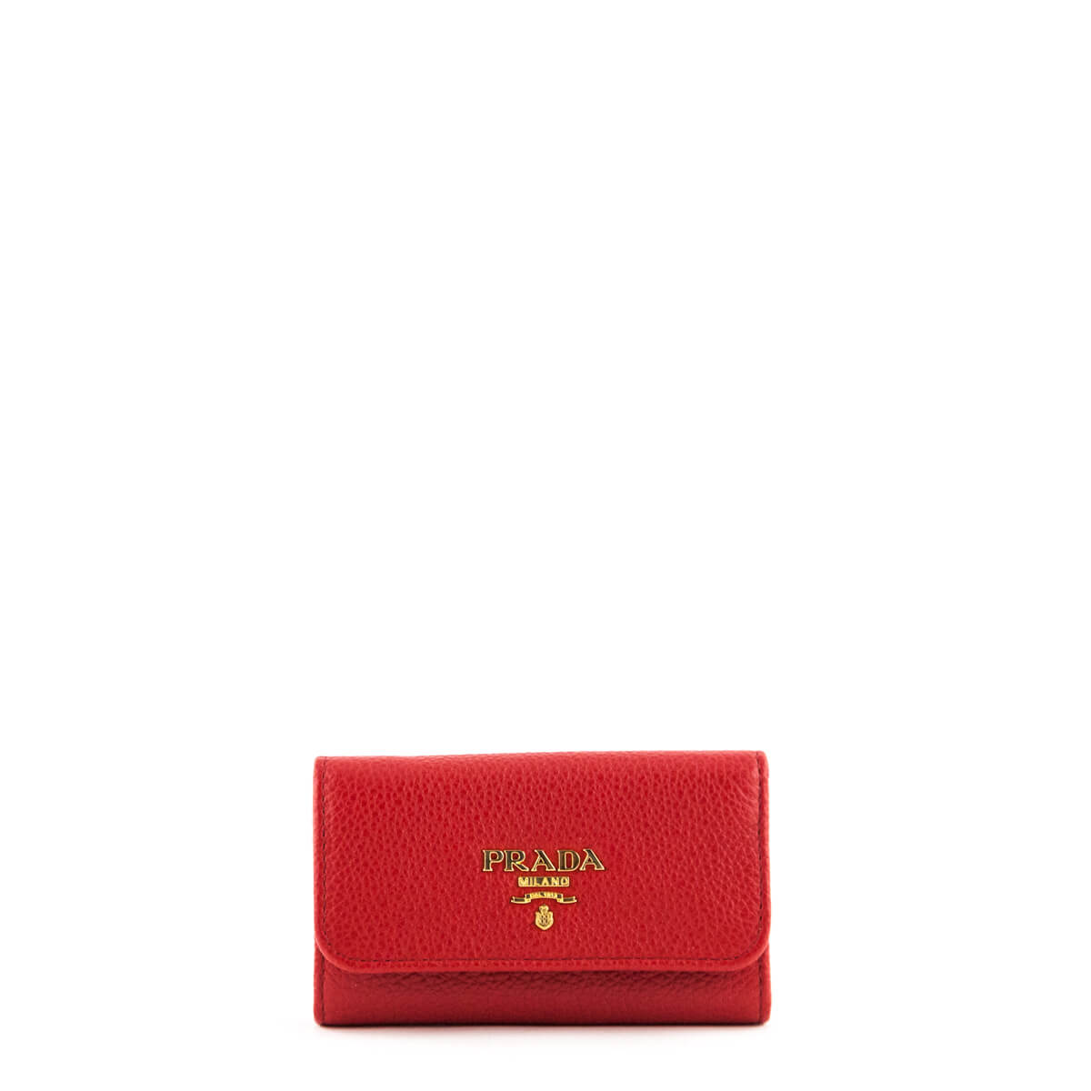 57f161e1835b69 Prada Red Vitello Grain Key Holder - LOVE that BAG - Preowned Authentic  Designer Handbags ...