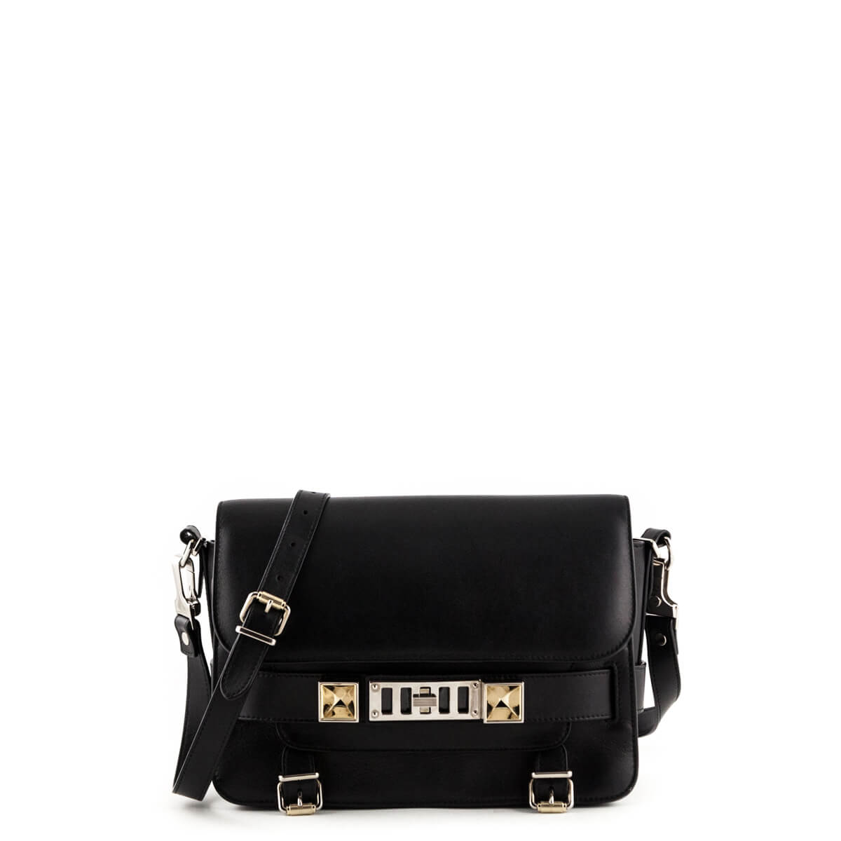 bc0d423662c9 Proenza Schouler Black Calfskin Classic PS11 - LOVE that BAG - Preowned  Authentic Designer Handbags ...