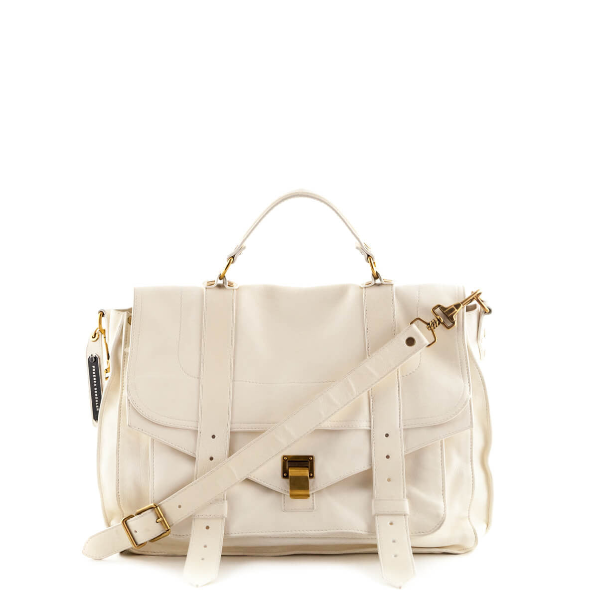 6376e0636d45 Proenza Schouler Bone Lambskin Large PS1 Messenger Bag - LOVE that BAG - Preowned  Authentic Designer ...