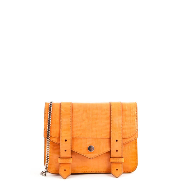 4b592f5c7c Proenza Schouler Orange Snake Embossed PS1 Chain Wallet Bag - LOVE that BAG  - Preowned Authentic