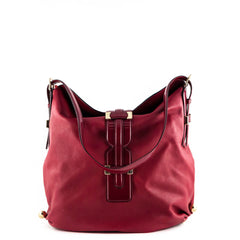 Roberto Cavalli Red Leather Shoulder Bag