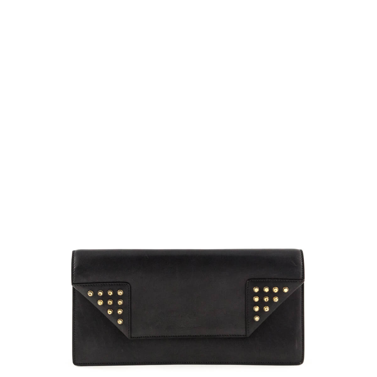 17440f07ef73 Saint Laurent Black Studded Betty Clutch - LOVE that BAG - Preowned  Authentic Designer Handbags ...