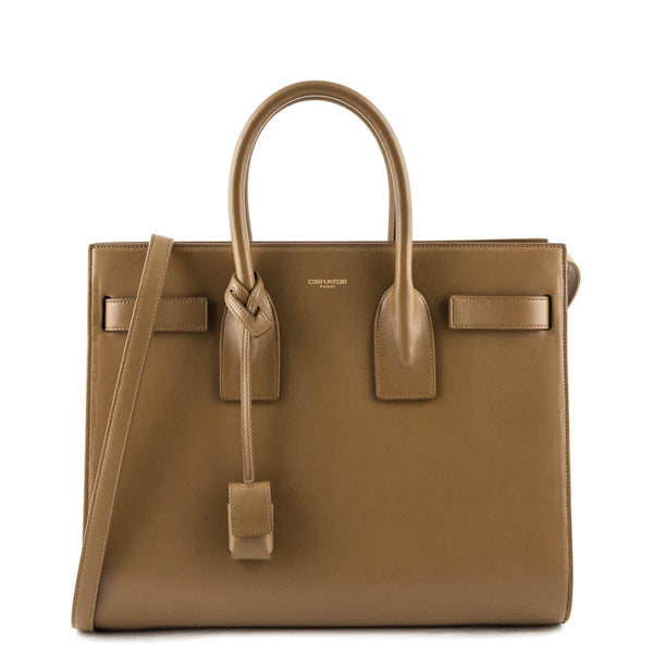 2eab8bcff274 Saint Laurent Cafe au Lait Calfskin Small Sac de Jour - LOVE that BAG -  Preowned