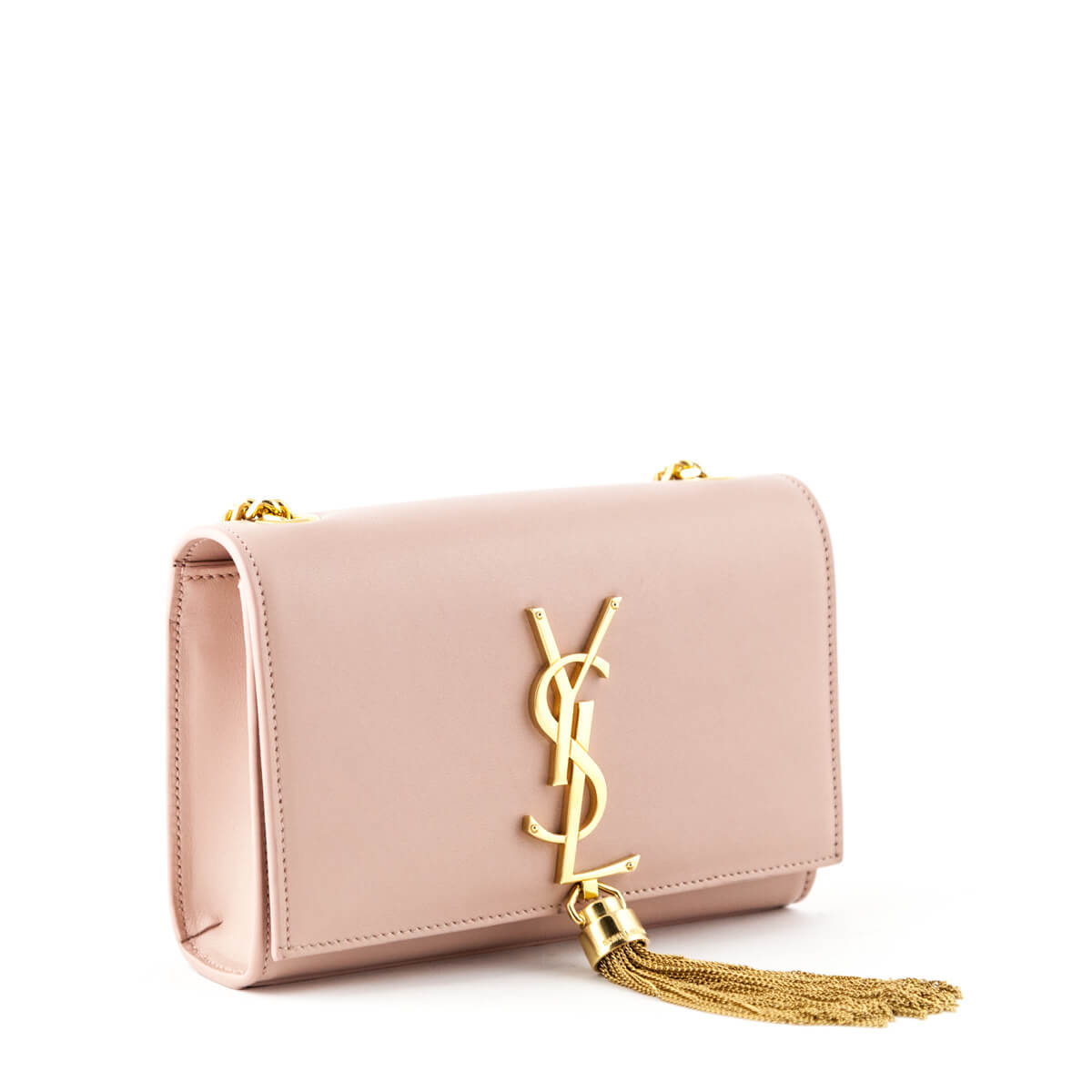5f384d9b1537 ... Saint Laurent Pink Smooth Calfskin Small Tassel Kate bag - LOVE that BAG  - Preowned Authentic ...