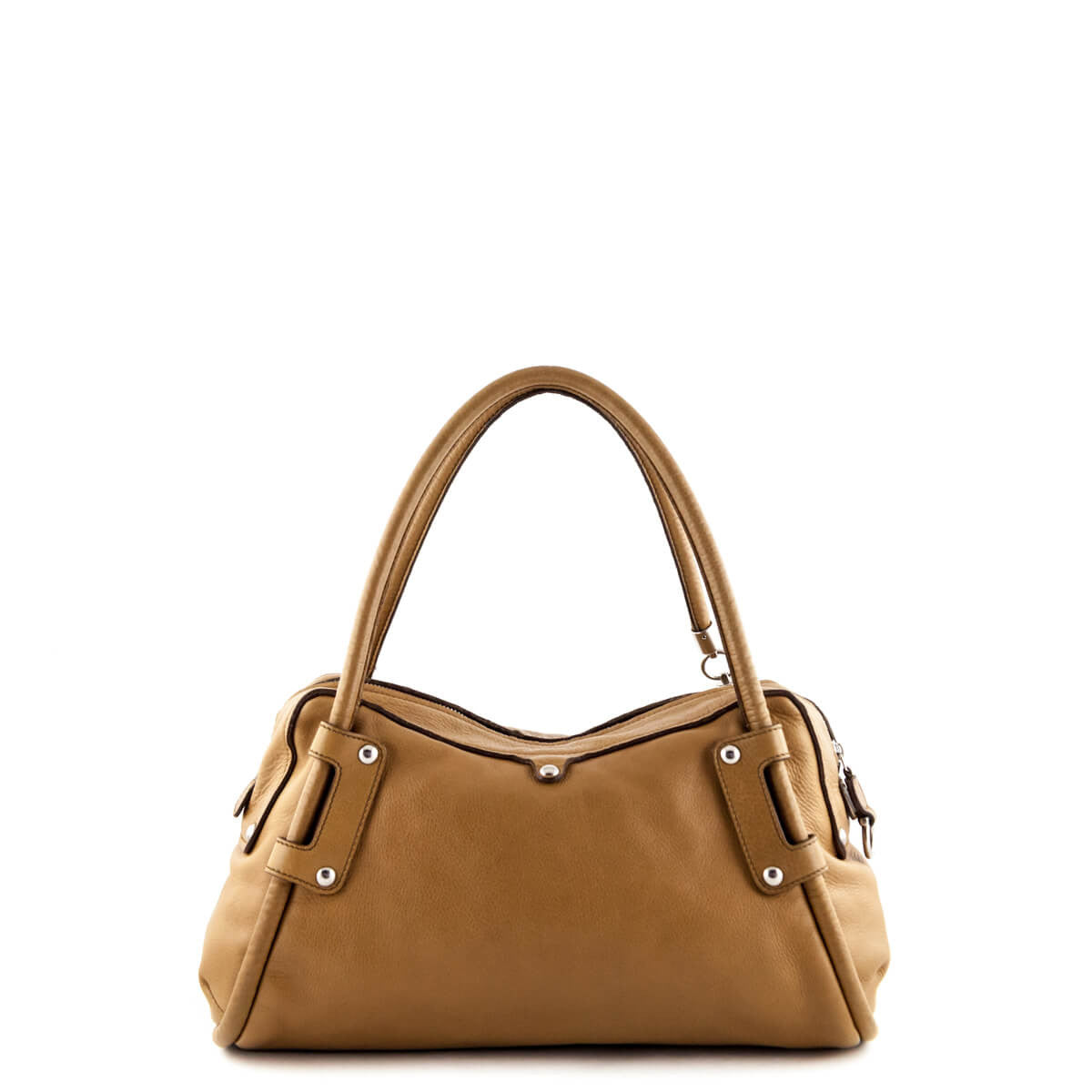 ... Salvatore Ferragamo Camel Tassel Zipper Satchel - LOVE that BAG -  Preowned Authentic Designer Handbags ... d5917d9c23bd5