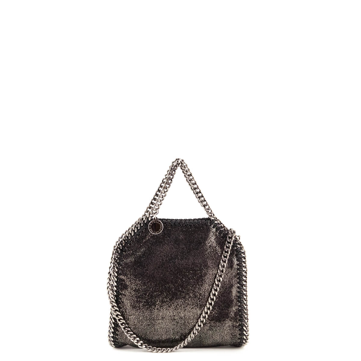 78b671718bc Stella McCartney Ruthenium Shiny Dot Tiny Falabella Bag - LOVE that BAG -  Preowned Authentic Designer ...