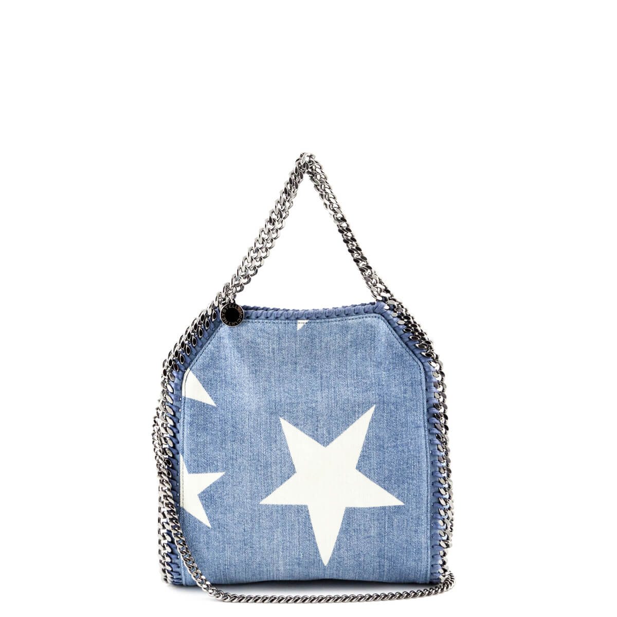 b7bb2b4af5 Stella McCartney Mini Star Print Denim Falabella Shoulder Bag - LOVE that  BAG - Preowned Authentic ...